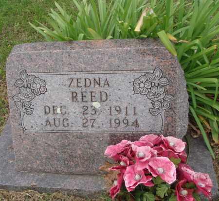 REED, ZEDNA - Baxter County, Arkansas | ZEDNA REED - Arkansas Gravestone Photos