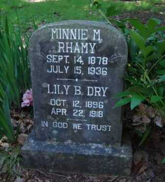 RHAMY, MINNIE M. - Baxter County, Arkansas | MINNIE M. RHAMY - Arkansas Gravestone Photos