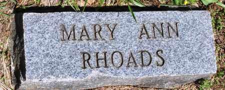 RHOADS, MARY ANN - Baxter County, Arkansas   MARY ANN RHOADS - Arkansas Gravestone Photos