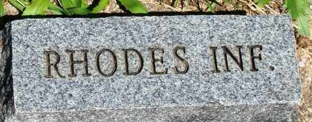 RHODES, INFANT - Baxter County, Arkansas   INFANT RHODES - Arkansas Gravestone Photos