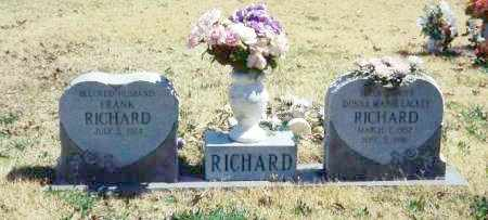 RICHARD, FRANK - Baxter County, Arkansas | FRANK RICHARD - Arkansas Gravestone Photos