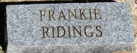 RIDINGS, FRANKIE - Baxter County, Arkansas | FRANKIE RIDINGS - Arkansas Gravestone Photos