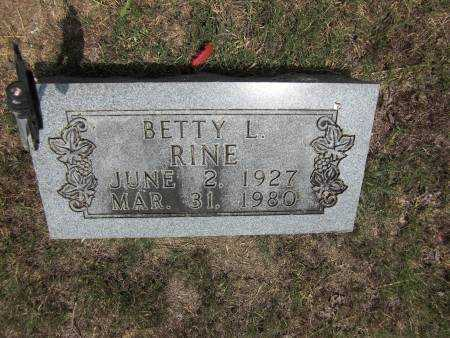 RINE, BETTY L. - Baxter County, Arkansas | BETTY L. RINE - Arkansas Gravestone Photos