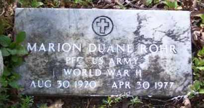 ROHR (VETERAN WWII), MARION DUANE - Baxter County, Arkansas | MARION DUANE ROHR (VETERAN WWII) - Arkansas Gravestone Photos