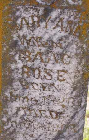 BECKHAM ROSE, MARY ANN - Baxter County, Arkansas | MARY ANN BECKHAM ROSE - Arkansas Gravestone Photos