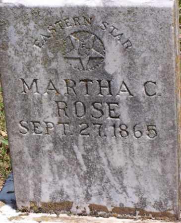 ROSE THOMPSON, MARTHA CAROLINE - Baxter County, Arkansas | MARTHA CAROLINE ROSE THOMPSON - Arkansas Gravestone Photos