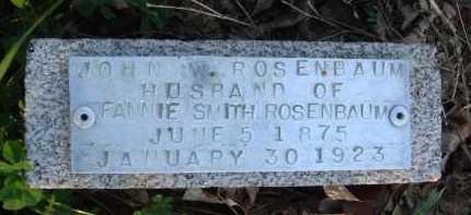 ROSENBAUM, JOHN W. - Baxter County, Arkansas | JOHN W. ROSENBAUM - Arkansas Gravestone Photos