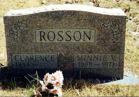 ROSSON, CLARENCE - Baxter County, Arkansas | CLARENCE ROSSON - Arkansas Gravestone Photos