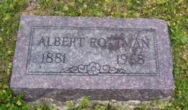 ROTTMAN, ALBERT - Baxter County, Arkansas | ALBERT ROTTMAN - Arkansas Gravestone Photos