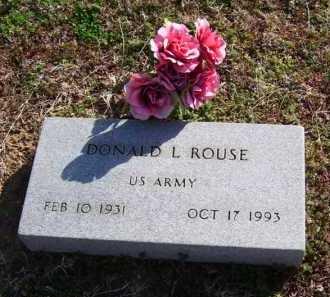 ROUSE (VETERAN), DONALD L - Baxter County, Arkansas | DONALD L ROUSE (VETERAN) - Arkansas Gravestone Photos