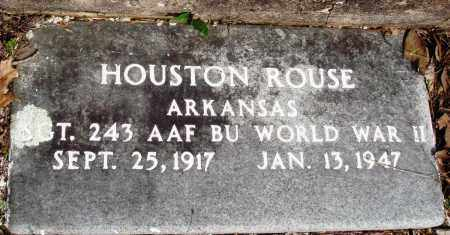 ROUSE (VETERAN WWII), HOUSTON - Baxter County, Arkansas | HOUSTON ROUSE (VETERAN WWII) - Arkansas Gravestone Photos