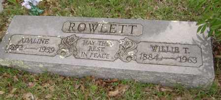 ROWLETT, WILLIE T. - Baxter County, Arkansas | WILLIE T. ROWLETT - Arkansas Gravestone Photos