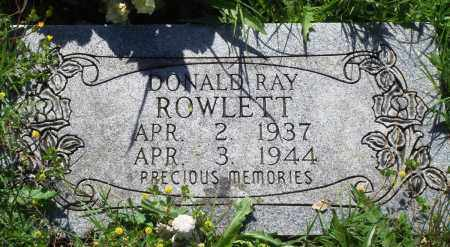 ROWLETT, DONALD RAY - Baxter County, Arkansas | DONALD RAY ROWLETT - Arkansas Gravestone Photos