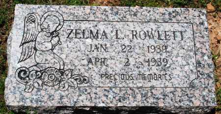 ROWLETT, ZELMA L - Baxter County, Arkansas | ZELMA L ROWLETT - Arkansas Gravestone Photos