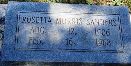 MORRIS SANDERS, ROSETTA - Baxter County, Arkansas | ROSETTA MORRIS SANDERS - Arkansas Gravestone Photos