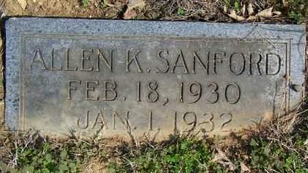 SANFORD, ALLEN K - Baxter County, Arkansas | ALLEN K SANFORD - Arkansas Gravestone Photos