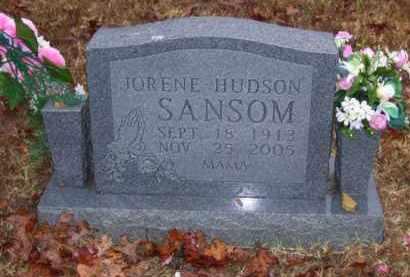 HUDSON SANSOM, JORENE - Baxter County, Arkansas | JORENE HUDSON SANSOM - Arkansas Gravestone Photos