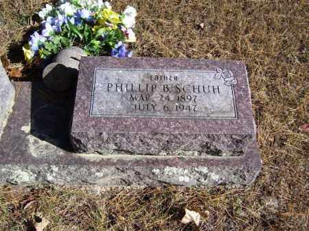 SCHUH (VETERAN WWI), PHILLIP B - Baxter County, Arkansas   PHILLIP B SCHUH (VETERAN WWI) - Arkansas Gravestone Photos