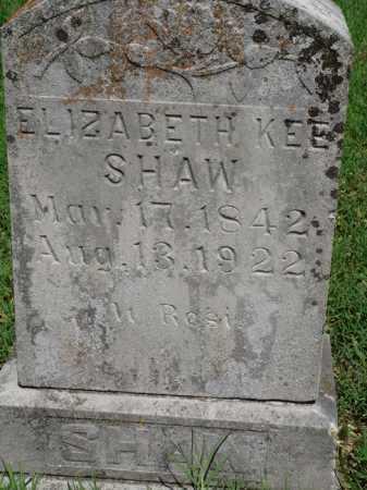 KEE SHAW, ELIZABETH - Baxter County, Arkansas   ELIZABETH KEE SHAW - Arkansas Gravestone Photos