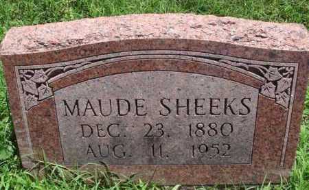 SHEEKS, MAUDE - Baxter County, Arkansas | MAUDE SHEEKS - Arkansas Gravestone Photos