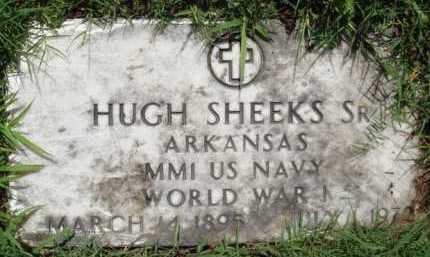 SHEEKS, SR (VETERAN WWI), HUGH - Baxter County, Arkansas   HUGH SHEEKS, SR (VETERAN WWI) - Arkansas Gravestone Photos