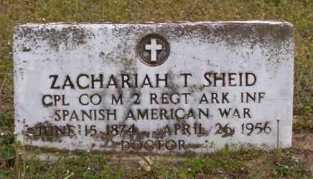 SHEID (VETERAN SAW), ZACHARIAH TAYLOR - Baxter County, Arkansas | ZACHARIAH TAYLOR SHEID (VETERAN SAW) - Arkansas Gravestone Photos