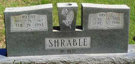 SHRABLE, ORVILLE - Baxter County, Arkansas | ORVILLE SHRABLE - Arkansas Gravestone Photos