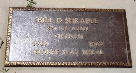 SHRABLE (VETERAN VIET), BILL D - Baxter County, Arkansas | BILL D SHRABLE (VETERAN VIET) - Arkansas Gravestone Photos