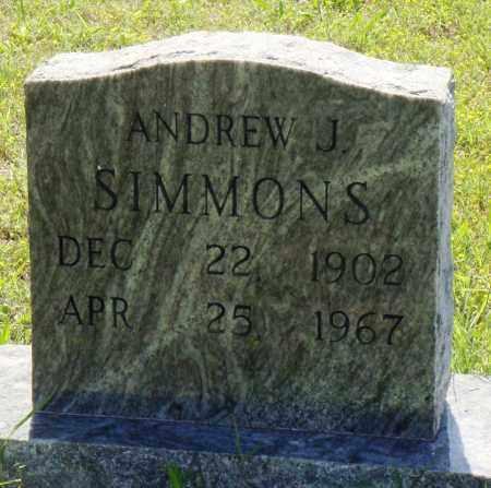 SIMMONS, ANDREW J - Baxter County, Arkansas   ANDREW J SIMMONS - Arkansas Gravestone Photos