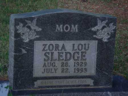 SLEDGE, ZORA LOU - Baxter County, Arkansas | ZORA LOU SLEDGE - Arkansas Gravestone Photos