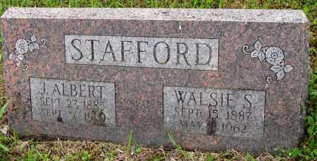 STAFFORD, J ALBERT - Baxter County, Arkansas | J ALBERT STAFFORD - Arkansas Gravestone Photos