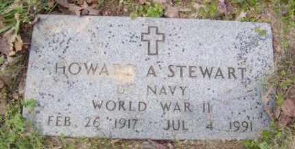 STEWART (VETERAN WWII), HOWARD A - Baxter County, Arkansas   HOWARD A STEWART (VETERAN WWII) - Arkansas Gravestone Photos