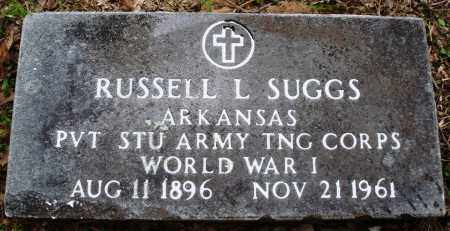 SUGGS (VETERAN WWI), RUSSELL L - Baxter County, Arkansas   RUSSELL L SUGGS (VETERAN WWI) - Arkansas Gravestone Photos