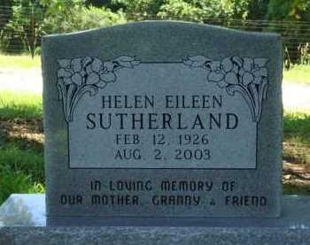 SUTHERLAND, HELEN EILEEN - Baxter County, Arkansas | HELEN EILEEN SUTHERLAND - Arkansas Gravestone Photos