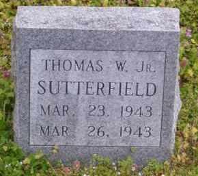 SUTTERFIELD, JR, THOMAS W. - Baxter County, Arkansas | THOMAS W. SUTTERFIELD, JR - Arkansas Gravestone Photos