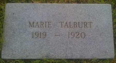 TALBURT, MARIE - Baxter County, Arkansas   MARIE TALBURT - Arkansas Gravestone Photos