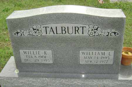 TALBURT, WILLIAM L. - Baxter County, Arkansas   WILLIAM L. TALBURT - Arkansas Gravestone Photos