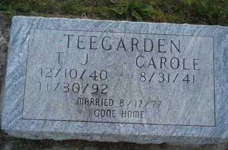 TEEGARDEN, T. J. - Baxter County, Arkansas   T. J. TEEGARDEN - Arkansas Gravestone Photos