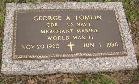 TOMLIN (VETERAN WWII), GEORGE A. - Baxter County, Arkansas | GEORGE A. TOMLIN (VETERAN WWII) - Arkansas Gravestone Photos