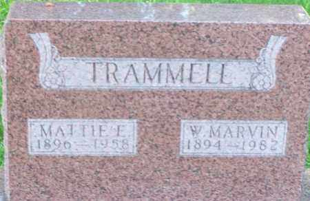 TRAMMELL, MATTIE E - Baxter County, Arkansas | MATTIE E TRAMMELL - Arkansas Gravestone Photos