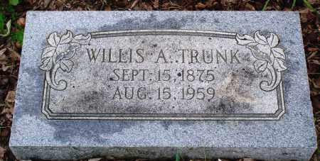 TRUNK, WILLIS A - Baxter County, Arkansas   WILLIS A TRUNK - Arkansas Gravestone Photos