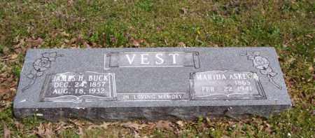 VEST, JAMES HENRY  BUCK - Baxter County, Arkansas | JAMES HENRY  BUCK VEST - Arkansas Gravestone Photos