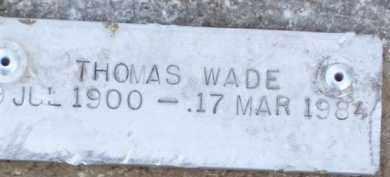 WADE, THOMAS - Baxter County, Arkansas | THOMAS WADE - Arkansas Gravestone Photos