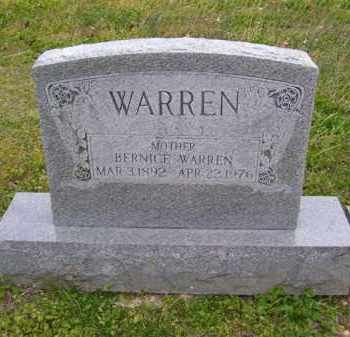 WARREN, BERNICE - Baxter County, Arkansas | BERNICE WARREN - Arkansas Gravestone Photos