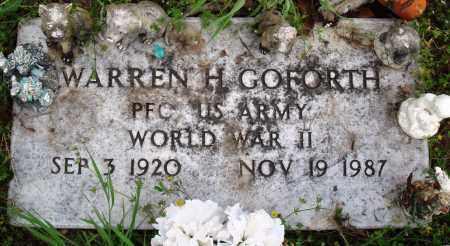 WARREN (VETERAN WWII), WARREN H - Baxter County, Arkansas | WARREN H WARREN (VETERAN WWII) - Arkansas Gravestone Photos