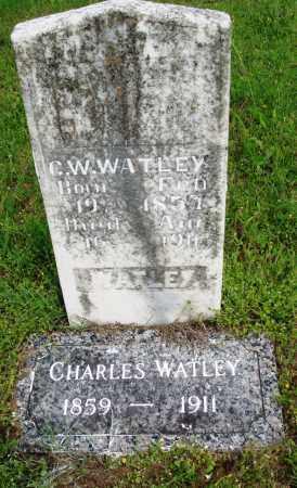 WATLEY, CHARLES W - Baxter County, Arkansas   CHARLES W WATLEY - Arkansas Gravestone Photos