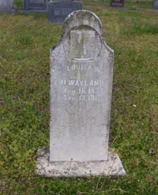 WAYLAND, LOUISA W. - Baxter County, Arkansas | LOUISA W. WAYLAND - Arkansas Gravestone Photos