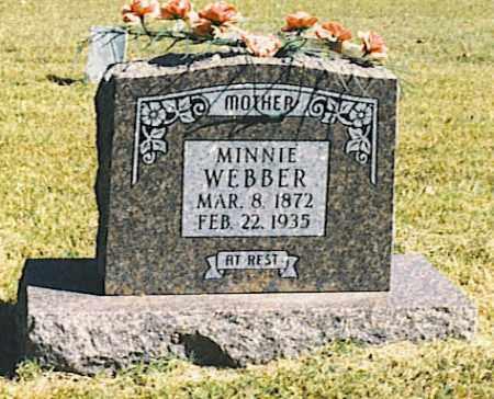 "WEBBER, NANCY ARMINDA ""MINNIE"" - Baxter County, Arkansas   NANCY ARMINDA ""MINNIE"" WEBBER - Arkansas Gravestone Photos"