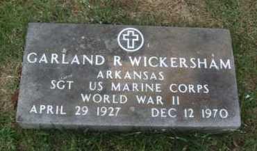 WICKERSHAM  (VETERAN WWII), GARLAND R - Baxter County, Arkansas   GARLAND R WICKERSHAM  (VETERAN WWII) - Arkansas Gravestone Photos