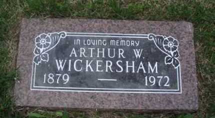 WICKERSHAM, ARTHUR W. - Baxter County, Arkansas | ARTHUR W. WICKERSHAM - Arkansas Gravestone Photos